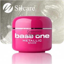 Gel UV Base One Silcare metalic Snow 5 ml
